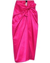 Marni High-rise Satin Skirt - Pink