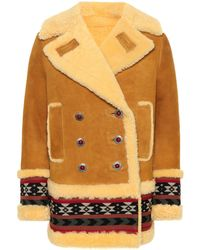 Etro - Shearling-lined Suede Coat - Lyst