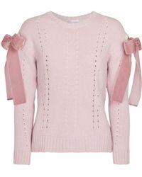 RED Valentino Verzierter Strickpullover - Pink