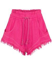 Étoile Isabel Marant - Talapiz High-rise Silk Shorts - Lyst