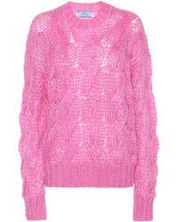Prada Pullover aus einem Mohairgemisch - Pink