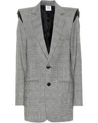 Vetements Checked Wool-blend Blazer - Grey