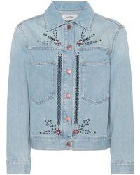 Étoile Isabel Marant - Chaqueta de jeans adornada Cabella - Lyst