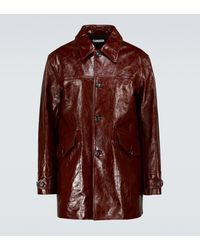 Our Legacy Buta Single-breasted Leather Coat - Red