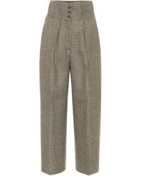 Etro Exclusive To Mytheresa – High-rise Wool-blend Tweed Trousers - Natural