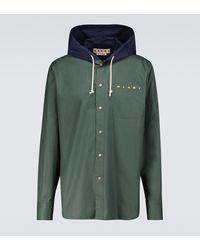 Marni Hemdjacke aus Baumwolle - Grün