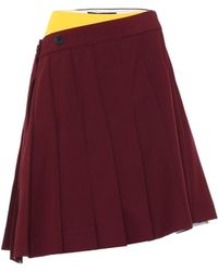 CALVIN KLEIN 205W39NYC Pleated Skirt - Red