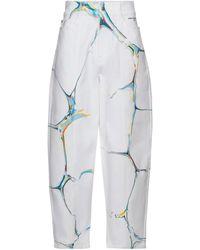 Stella McCartney Jean ample à taille haute - Blanc