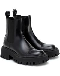Balenciaga Tractor Leather Chelsea Boots - Black