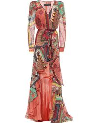 Etro Printed Cotton-blend Dress - Red