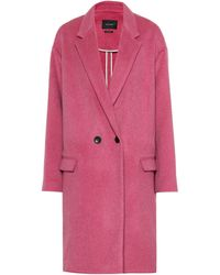 Isabel Marant Filipo Wool And Cashmere-blend Coat - Pink