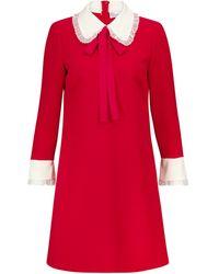 RED Valentino Vestido corto de cady - Rojo