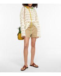 Loewe Paula's Ibiza Crochet Cotton Hoodie - White