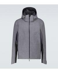 Sease Powder Herringbone Technical Jacket - Grey