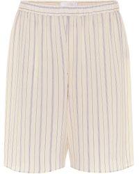 Chloé Shorts aus Seide - Natur