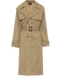 A.P.C. Simone Cotton-gabardine Trench Coat - Natural