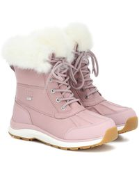 UGG Adirondack Ii Fluff Leather Boots - Pink