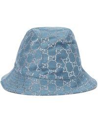 Gucci Fischerhut aus GG Lamé - Blau
