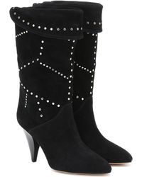 910379b9df2 Lestee Studded Suede Ankle Boots - Black