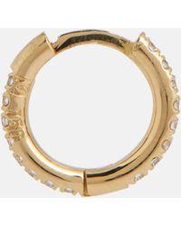 Ileana Makri Orecchini a cerchio Mini in oro 18kt con diamanti - Metallizzato