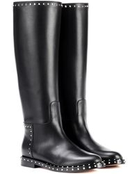 Valentino - Leather Knee-high Boots - Lyst