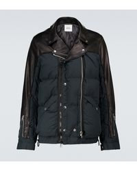 Undercover Sacai x chaqueta de piel - Negro
