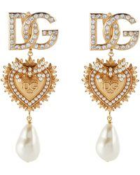 Dolce & Gabbana Verzierte Clip-Ohrringe - Mettallic