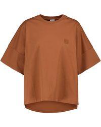 Loewe T-Shirt Anagram aus Baumwolle - Braun