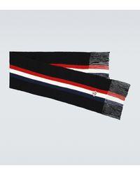 Moncler Wool Ribbed Scarf - Black