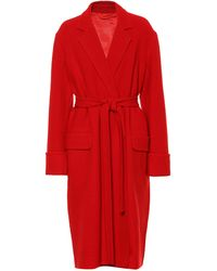 Helmut Lang Wool Wrap Coat - Red