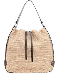 Isabel Marant Bayia Medium Raffia Shoulder Bag - Natural