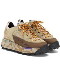 Acne Studios Sneakers in suede e tessuto - Multicolore
