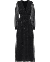 Oséree Exclusive To Mytheresa – Sequined Satin Maxi Dress - Black