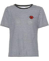 T-shirt en coton rayé LexVelvet Vente Pré Commande En Ligne Le Plus Grand Fournisseur De Dédouanement Fourniture En Ligne Acheter Pas Cher Marque Nouvelle Unisexe Wpemgnkb