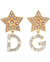 Dolce & Gabbana - Dg Stars Crystal Earrings - Lyst