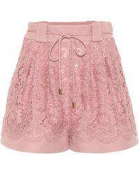 Valentino Shorts aus Seide und Wolle - Pink