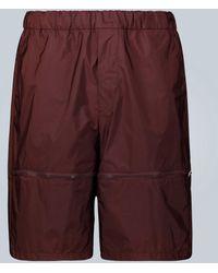 Prada Exclusivo en Mytheresa – Pantalones cortos de nylon - Morado