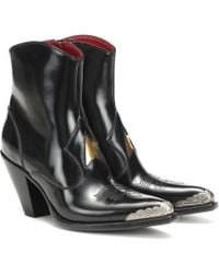 Golden Goose Deluxe Brand Nora Leather Cowboy Boots - Black