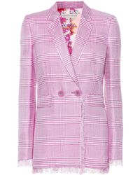 Emilio Pucci - Plaid Double Breasted Blazer - Lyst