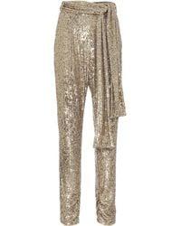 Dundas Sequined Trousers - Metallic