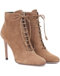 Prada - Suede Ankle Boots - Lyst