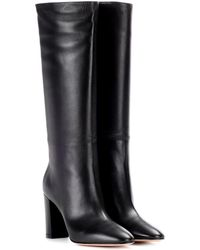 Gianvito Rossi Laura 85 Leather Boots - Black