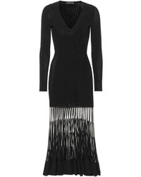 Alexander McQueen Stretch Ribbed-knit Dress - Black