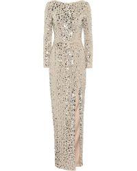 Rasario Sequined Gown - Metallic