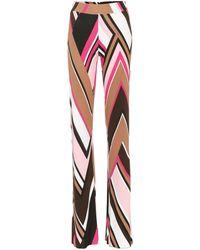 Emilio Pucci - Printed Wide-legged Trousers - Lyst