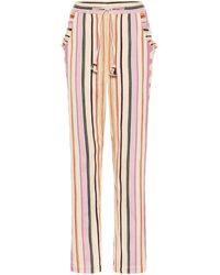 Isabel Marant Powlandi Cotton-blend Trousers - Pink