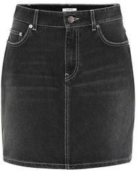Ganni Minigonna di jeans - Nero