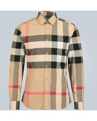 Burberry Bluse Check aus Stretch-Baumwolle - Mehrfarbig