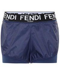 Fendi Shorts in tessuto tecnico - Blu