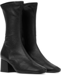 BY FAR Carlos 22 Leather Ankle Boots - Black
